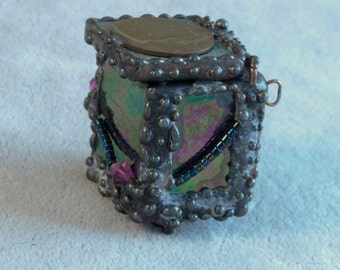 Stained Glass Box by Stephanie Danz ~ Pendant