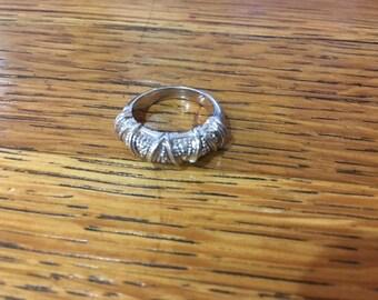 Vintage Silver Faux Diamond Ring