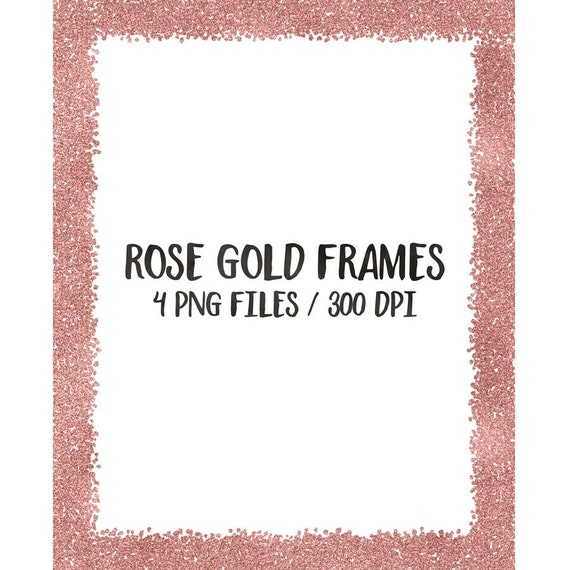 buy 3 for 8 usd rose gold digital frames clip art glitter frames cliparts