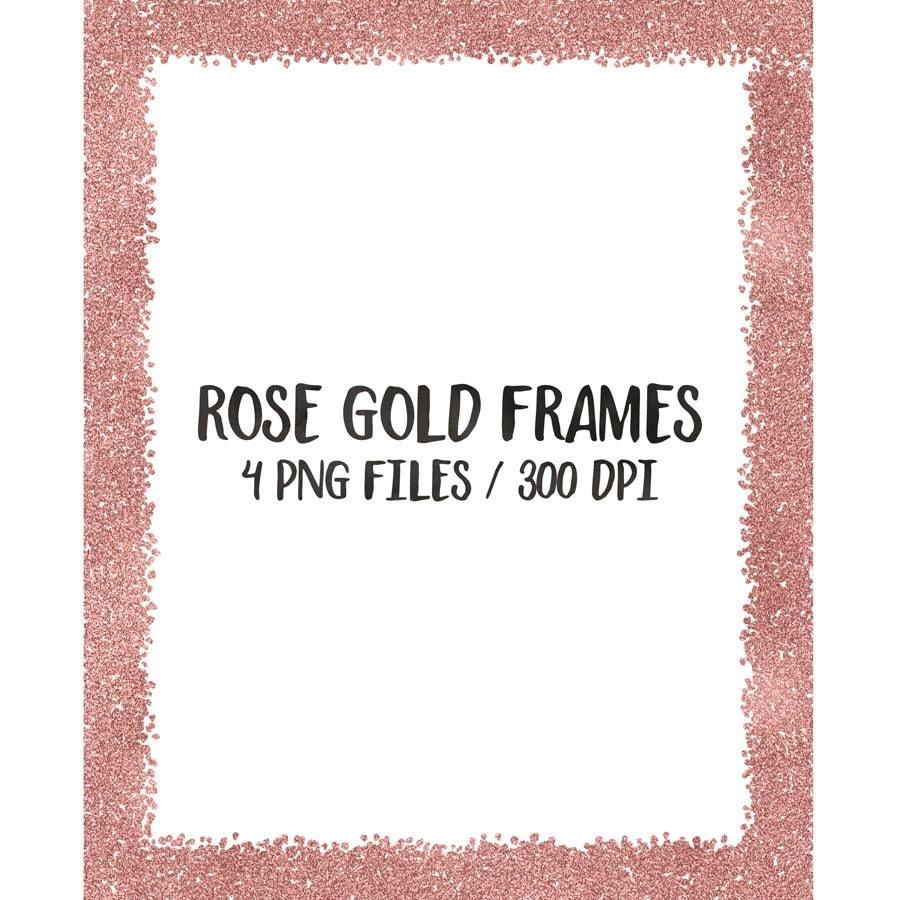 buy 3 for 8 usd rose gold digital frames clip art glitter. Black Bedroom Furniture Sets. Home Design Ideas