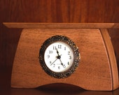 Wooden Desk Clock, Mantel Clock, Walnut Desk Clock, Solid Wood Table Clock, Mantle Shelf Clock,Craftsman Clock2,Anniversary Gift