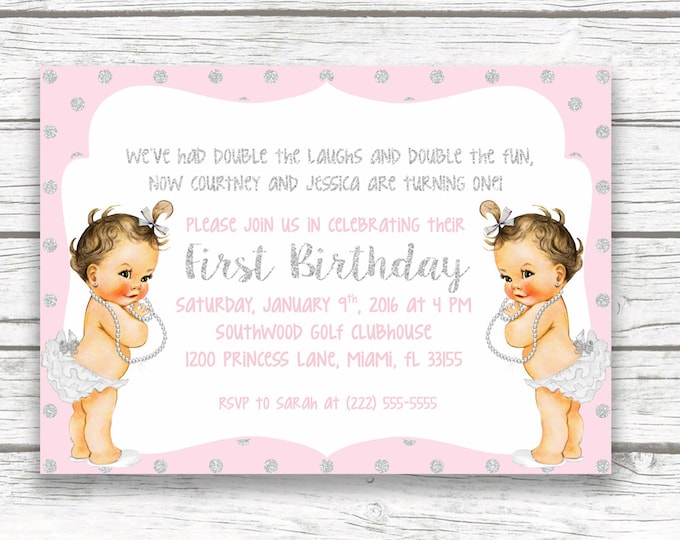 Birthday Casa Confetti Design Studio - Vintage girl birthday invitation