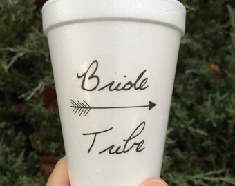 Bride Tribe, Bride Tribe Cups, Stickers, Bachelorette Party Decor, Bachelorette Cups, Bachelorette Party Cups, Custom Plastic Cups, Labels