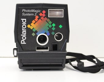 Vintage 1980s Polaroid PhotoMagic System 2 - Retro Instant Camera With Accessories in Hard Case