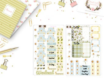 Beautiful Daisy Planner Sticker, Doki Discagenda, Planner stickers, [Dokikit1-2#011]