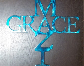 Metal Amazing Grace Cross