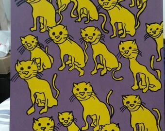 Cats original acrylic painting