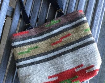 Wool Aztec Print Tote