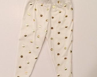 Gold Polka Dot Legging