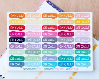 45 On-Call Sticker Planner  // Perfect for Any Planner