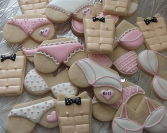 Bachelorette Party Cookies (available in any colors)