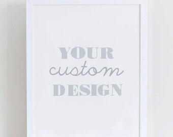 Custom made print from The Little Boo Studio