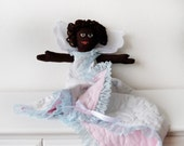 Multi-cultural, African American Angel Doll With Receiving Blanket Tunic
