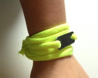 Recyled T-shirt bracelet