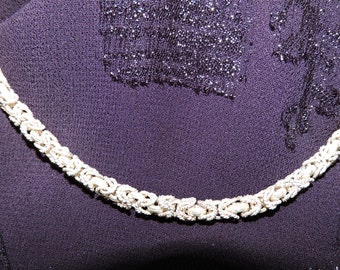 Sterling Silver Choker Chain Necklace