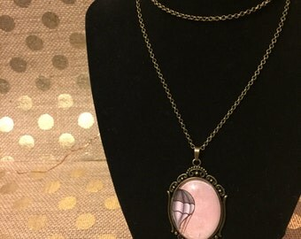 Decorative Hotair Balloon Oval Necklace