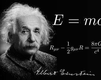 Albert Einstein E=MC2 POSTER