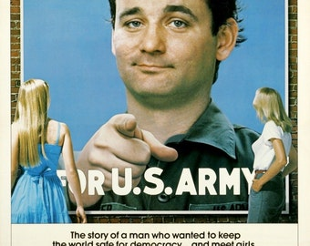 STRIPES Movie Poster 1981 Bill Burray Ivan Reitman