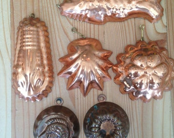 Group of Small Copper Tartlet Molds