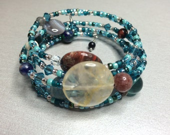 Custom-made Astrological Birthchart Gemstone Bracelet