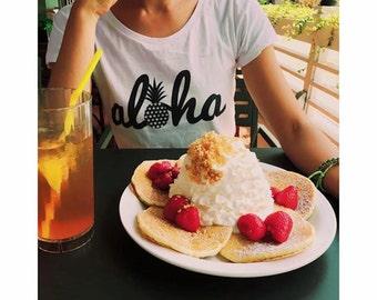 ALOHA Hawaii pineapple ladies t-shirt