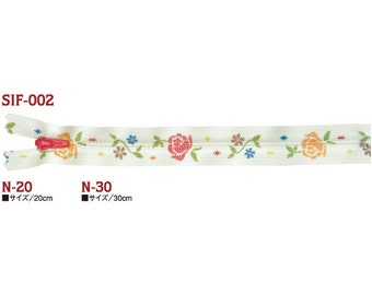 "YKK Rose Garden Zipper/Fastener | 20cm/8"" or 30cm/12""