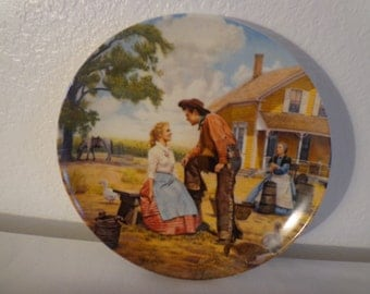 "Vintage China Plate ""Oh, What a Beautiful Mornin"" Number 12853D"