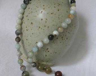 Beautiful Amazonite gemstone necklace.