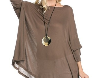 T4074C Long Sleeve Loose Fit Boxy Top