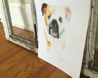 Precious Puppies...watercolor print