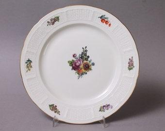 "Nymphenburg Flowers Cake Plate 7.48"" in Diameter handpainted Germany Decor 48 #7"