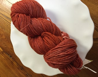 Burnt Orange Kettle Dyed Wool Yarn