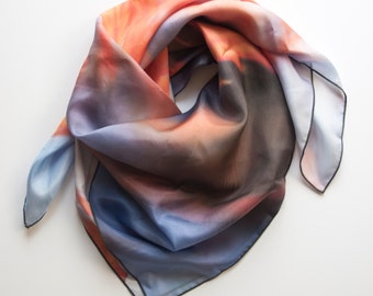 Japanese Maple Leaves Silk Scarf