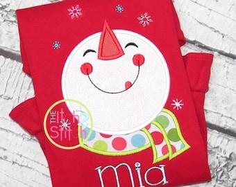 Christmas snowman shirt, Girls Christmas shirt, Boys Christmas shirt, Snowman shirt, Winter shirt