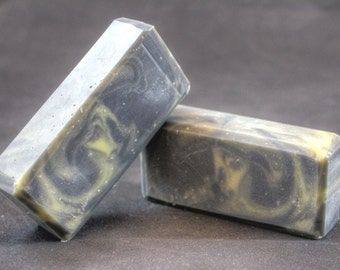 Earl Grey Tea scented cold process soap/Grey and Gold cold process soap