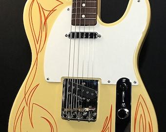 "Classic ""Hot Rod"" T-Style Custom Guitar"