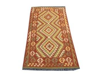 FREE SHIPPING    ....    Beautiful Hand Woven Vegetable Dyed Chobi Kilim 100% Hand Spun Wool