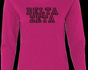 On Sale Delta Zeta Sorority long sleeve t-shirt - Delta Zeta tee shirts - Delta Zeta shirts - DZ Clothing