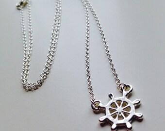 Sale | Wheel | Ship | Nautical | Pretty | Cute | Necklace