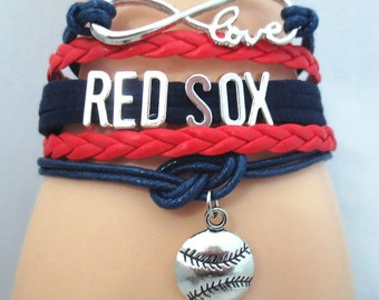 Red Sox Bracelet - Red Sox Jewelry - Charm Bracelet- Perfect Stocking Stuffer!!!