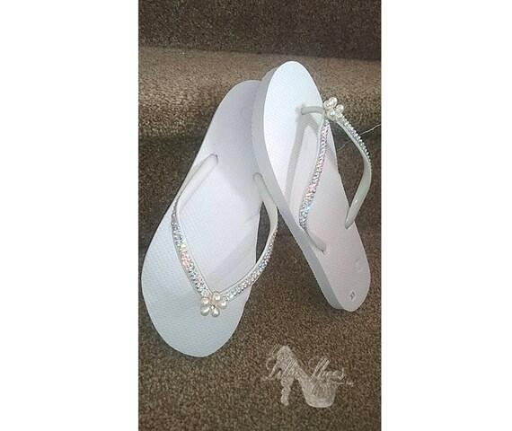Shoes Bling Flip Flops Wedding Bridesmaid Honeymoon