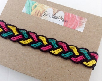 Friendship bracelet braid /Colorful braid bracelet / Customizable braid bracelet