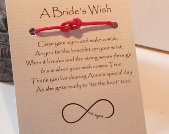 A Brides Wish bracelets with Infinity Knot - wedding