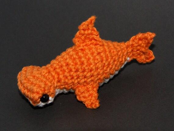 IN STOCK Orange Hammerhead Shark Amigurumi Plush