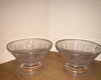 2 Actress EAP Early American Pattern Glass Sauce Dishes