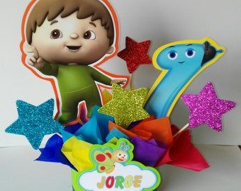 Baby tv centerpiece, party  decoration, birthday centerpiece, baby tv centerpiece  inspirated, 4 centerpiece