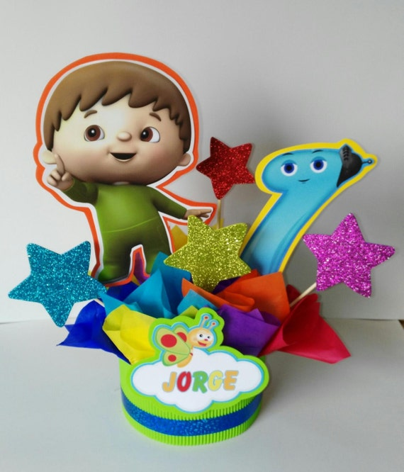 baby tv centerpiece party decoration birthday centerpiece