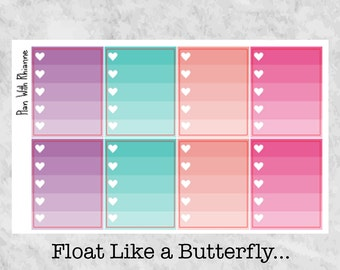 Float Like a Butterfly... Ombre Heart Checklists for the Erin Condren Life Planner