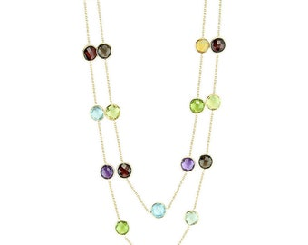 14K Solid Gold Gemstone By The Yard, 14k Gold Chain Necklace, Necklaces For Nurses, Solid 14k Gold Necklace, Unique Gifts For Teachers