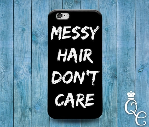 iPhone 4 4s 5 5s 5c SE 6 6s 7 plus + iPod Touch 4th 5th 6th Gen Cute Black White Messy Hair Girly Beach Funny Fun Phone Cover Fun Quote Case